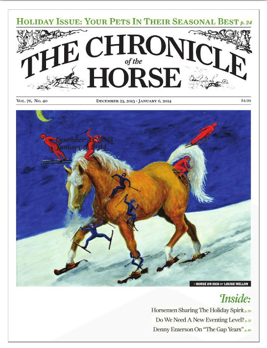 Book review for Inside Your Ride, published in Chronicle of the Horse, December 2013