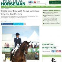 Practical Horseman Column: Tonya on Inspired Goal-Setting