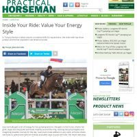Practical Horseman Column: Value your Energy Style