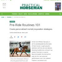 Practical Horseman Column: Pre-Ride Routines 101